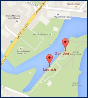 Osprey Charter Fishing - Our Location - Map